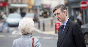 "Conservative MP Jacob Rees-Mogg: his use of ""cretinous"", along with Boris Johnson's ""crazy"", to describe Theresa May's customs partnership ideas suggests the histrionics of ham actors. Photograph: Matt Cardy/Getty"