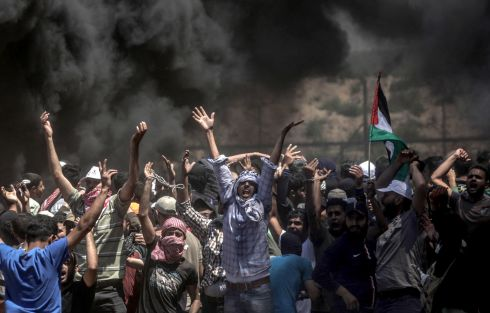 More protests are expected in the Palestinian territories on 15th May. Photograph: Mohammed Saber/ EPA