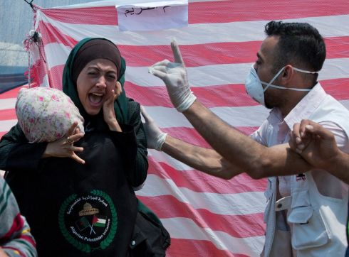 Monday was the deadliest day there since a devastating 2014 cross-border war and cast a pall over Israel's festive inauguration of the new US Embassy in contested Jerusalem. Photograph: Dusan Vranic/AP