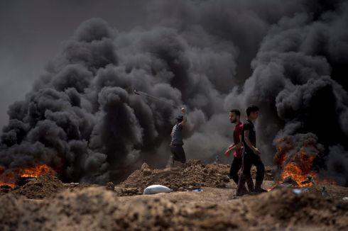 Palestinian leaders have called Monday's events a massacre, and the Israeli tactic of using live fire against the protesters has drawn worldwide concern and condemnation. Photograph: Luca Piergiovanni/ EPA