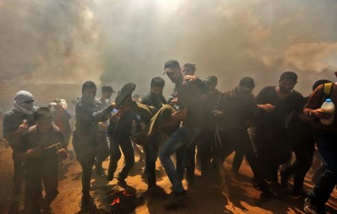 Israel has said it is acting in self-defence to defend its borders and communities. Photograph: Mahmud Hams/AFP/Getty Images