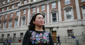 Tian Yu Lloyd at Holles Street hospital. Photograph Nick Bradshaw