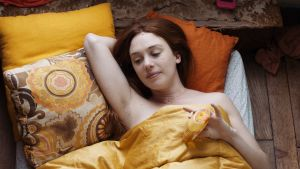 Laetitia Dosch in Jeune Femme as Paula, the rudderless, ridiculous, rapturous 31-year-old heroine