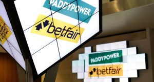 Paddy Power Betfair's price was down around 1.8 per cent in London at 7,833 pence sterling at lunchtime, but it held on to much of the 12 per cent gain it made on the back of Monday's news..