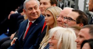 Israel's prime minister Binyamin Netanyahu, senior White House adviser Jared Kushner and Ivanka Trump among those at the opening of the US embassy in Jerusalem on May 14th, 2018. Photograph: Menahem Kahana/AFP/Getty