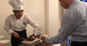 Irish beef is served in Irish Embassy in Beijing: Ireland's agri-food exports to China have increased fivefold from about €200 million in 2010 to approximately €1 billion in 2017.