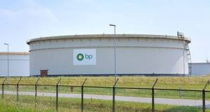 BP added 1.17%  to €577.20 in London, one of a clutch of oil companies to gain ground on news of rising crude prices. Photograph: Getty Images