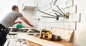 Figures show that 30 apprentice plasterers registered in 2017 compared with 310 in 2006. Floor and all tiling had 46 registered apprentices in 2006, but none last year.  Photograph: Getty Images