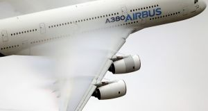 The Airbus A380.