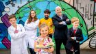 From left: Billy Beesley (11), Soifia Dragacevac, Molly Beesley (6), Luke Shanahan, Seán Gallagher and Harry Beesley (9) at the launch of the UCD Festival 2018, which is back for its third year on Saturday, June 9th, 2018. The festival is a free event where the wider UCD community and the public is invited for a day of events, talks, interactive science exhibitions and modern technologies, creative workshops and live performances. Register at www.ucd.ie/festival. Photograph: Marc O'Sullivan