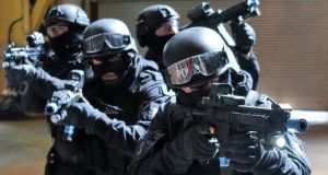 The Emergency Response Unit (members of which are pictured in a training exercise in 2013)  could respond to a terrorism incident in the capital within three minutes. Photograph: Colin Keegan, Collins, Dublin.