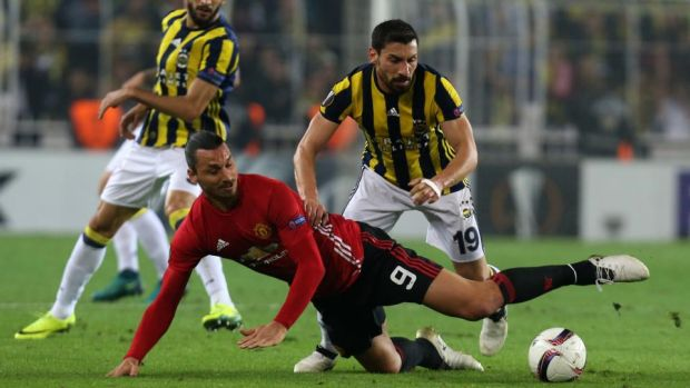 Fenerbahce beat eventual winners Manchester United 2-1 in the Europa League group stages in 2016. Photograph: Stringer/AFP/Getty