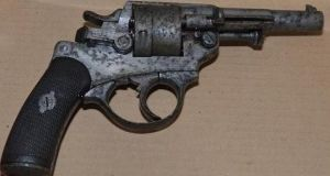 A revolver used by Jason Keogh, who disguised himself with a pair of underpants in an armed cash-in-transit robbery. File photograph: Metropolitan Police/PA Wire