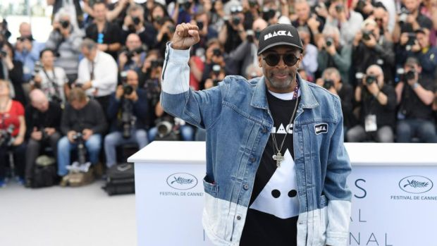 Spiky: Spike Lee at the BlacKkKlansman photocall. Photograph: Pascal Le Segretain/Getty