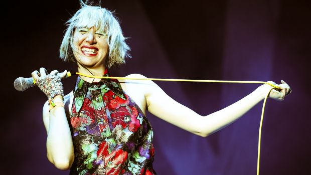 Karen O of the Yeah Yeah Yeahs: a sandblasting blend of trashy punk and glitzy pop. Photograph: Karl Walter/Getty Images