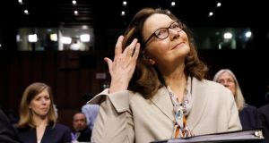 Gina Haspel: wrote a letter to senator Mark Warner, a Democrat on the intelligence committee, addressing concerns about the interrogation programme after the September 11th, 2001 terror attacks. Photograph: Kevin Lamarque/Reuters
