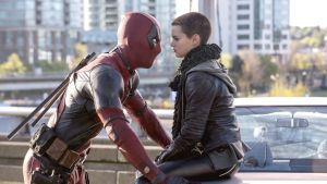 Ryan Reynolds and Brianna Hildebrand in Deadpool 2: piling on the pop-cultural switchbacks