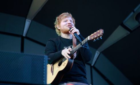 PHOTOGRAPH: Ed Sheeran performs in the Phoenix Park. Photograph Nick Bradshaw