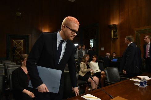DISHING THE DIRT: Cambridge Analytica former employee and whistleblower Christopher Wylie arrives to testify on the Facebook data privacy scandal before the Senate Judiciary Committee on Capitol Hill in Washington, DC. Photograph: Mandel Ngan/AFP/Getty Images