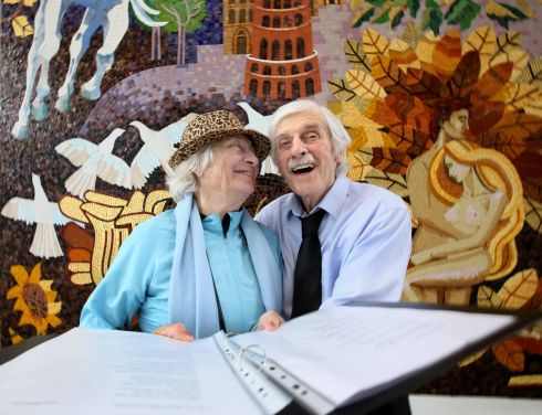 CHOIR FOR HIRE: Carmel Downes and Tom Dowling of the Misa (Mercer's Unit for Successful Ageing) Community Choir who were in fine voice at a concert at St James's Hospital. Photograph: Mark Stedman