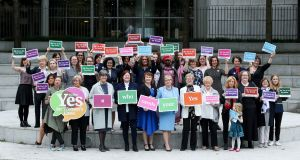 "The National Women's Council of Ireland (NWCI) launch of  its ""Who needs your Yes?"" campaign in Dublin."