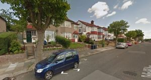 The Metropolitan Police Service was called to a property on Dollis Hill Avenue (above) in London  on Monday. A woman later identified as Bridget Curley died later of injuries sustained there. File photograph: Google Street View
