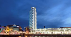 A €20 million, 15-storey, glass fronted triangular office building is to be built in the docklands in Cork city, on a brownfield site just yards from the Parnell Place bus station