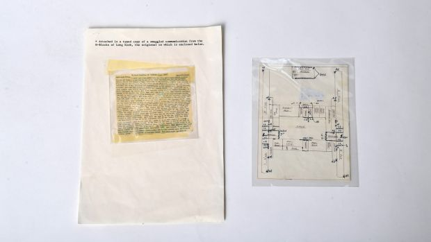 A smuggled letter from a H Block prisoner to the pope and a prison map