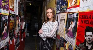 Louise O'Neill at the Everyman Theatre in Cork, where the stage adaptation of her novel 'Asking For It' will be performed as part of the Cork Midsummer Festival. Photograph: Darragh Kane