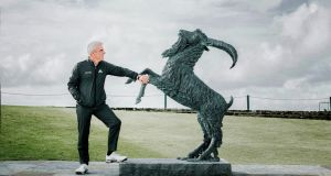 Paul McGinley at Lahinch Golf Club for the announcement that it is to host the 2019 Dubai Duty Free Irish Open, with McGinley as the host.  Photograph: Brian Arthur