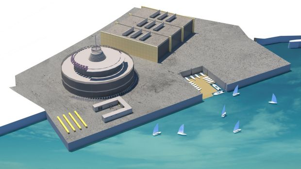 An illustration of what the Irish Sailing headquarters at Dún Laoghaire Harbour may look like