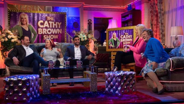 All Round to Mrs Brown's: the first show features Danny Dyer and Amir Khan All Round to Mrs Brown's on Saturday. Photograph: Graeme Hunter