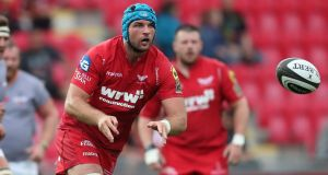 Munster-bound Tadgh Beirne has been named secondrow for Scarlets. Photograph: Billy Stickland/Inpho