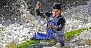Ronan Foley, Kilcullen Canoe Club Winner, in the K1 class in the Junior Liffey Descent for the past three years. Photograph: Mick Feeney