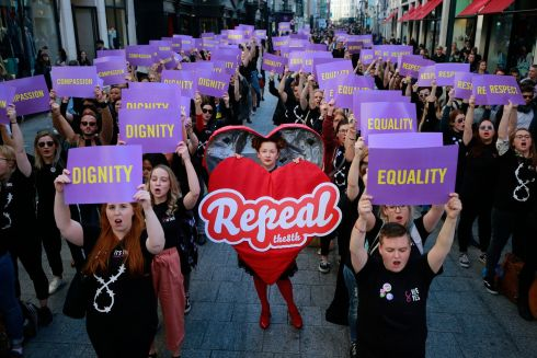 Public spaces in Dublin and Galway will have flash-mob style events today to remind Ireland that a vote for yes is a vote for compassion, respect, equality and dignity. Photograph Nick Bradshaw