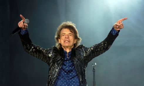 Mick Jagger during The Rolling Stones' set at Croke Park this evening. Photograph: Nick Bradshaw