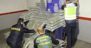 Drugs seized recently in Spain. Photograph: Garda Press Office