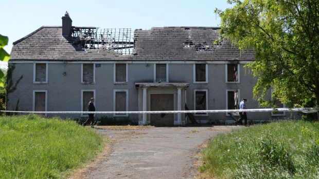The derelict house and farmyard on the Clonee Road, Lucan where the body of Anastasia 'Ana' Kriegel was found. Photograph: Collins