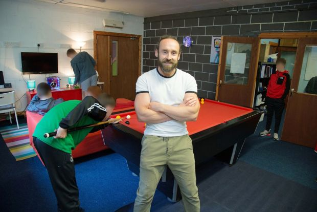 Youth justice worker Martin Saunders at Belvedere Youth Club on Buckingham Street. Photograph: Nick Bradshaw