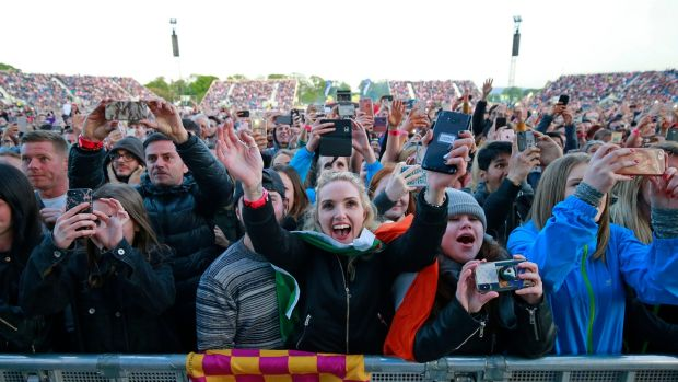 Ed Sheeran fans enjoy his concert in the Phoenix Park. Photograph Nick Bradshaw/The Irish Times