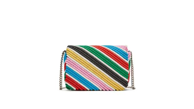 Colour-pop accessories like this Zara bag at €39.95 will have an all-year appeal.