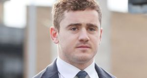 Former Ireland and Ulster rugby player Paddy Jackson: he was unanimously acquitted in Belfast Crown Court of raping a woman. Photograph: Niall Carson/PA Wire