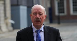 Former Garda commissioner Martin Callinan arrives in Dublin Castle on Friday to give evidence to the Charleton tribunal. Photograph: Collins