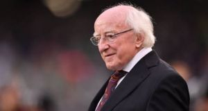 President Michael D Higgins: running in the presidential election of 2011,  he said he would only serve  one term