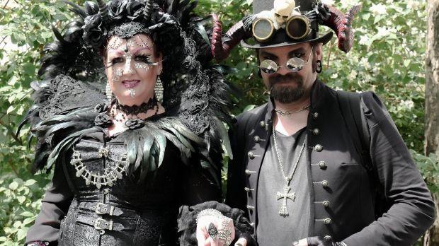 leipzig takes walk on black side with three day goth gathering