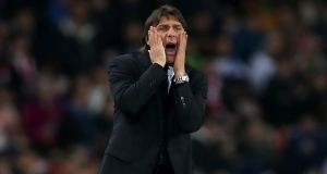 Antonio Conte: There had been fears of a parting with Chelsea even in the immediate aftermath of the title win last year. Photograph: Getty Images