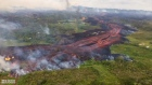 Aerial footage captures fast-moving lava flow in Hawaii