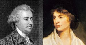 Rhetorical rivals Edmund Burke and Mary Wollstonecraft. Photographs: Getty Images
