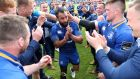 Leinster's Isa Nacewa is cheered off the pitch by team-mates after victory in the Pro14 semi-final. Photograph: Billy Stickland/Inpho