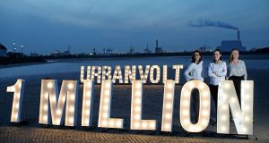 Fiona Cairns, Edel Kennedy and Maura Ryan of UrbanVolt: the company was one of the first firms worldwide to sign up to the UN's Global Lighting Challenge